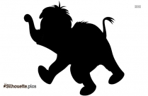 Indian Baby Elephant Silhouette