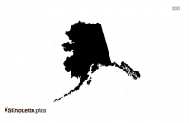 Alaska Map Silhouette Free Vector Art