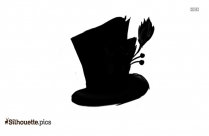 Black Hat Silhouette Image