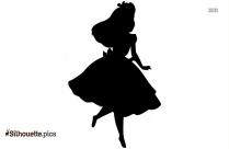 Alice In Wonderland Silhouette Free Vector Art