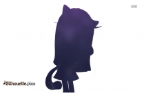 Cartoon Cat Silhouette Vector And Graphics