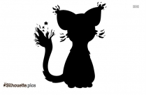 Tabby Cat Silhouette Background