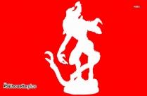 Alien Vs Predator Alien King Silhouette Clipart