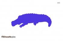 Cute Alligator Silhouette Illustration