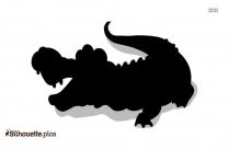Alligator Silhouette Free Vector Art