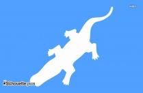 Alligator Silhouette Clipart