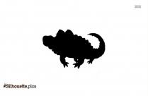 Cartoon Alligator Silhouette Image