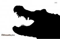 Scary Crocodile Silhouette