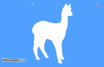 Alpaca Drawing Silhouette