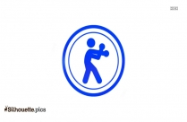 Alpha Fitness Gym Icon Silhouette