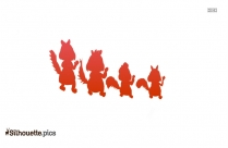 Stomp Cartoon Silhouette Free Vector Art