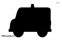 Cartoon Ambulance Silhouette Icon