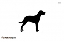 Pit Bull Dog Black And White Silhouette