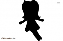 American Girl Doll Silhouette Picture