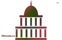 Black Government Building Silhouette Image