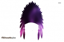 American Indian Feather Head Crown Silhouette