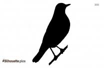 Cartoon Cardinal Holding Paper Silhouette