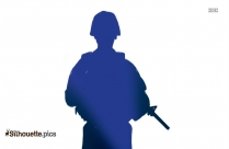 Military Man Silhouette Vector And Graphics Illustration