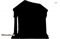 Ancient Greece Building Silhouette