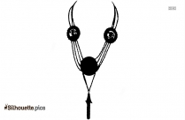 Ancient Greek Necklace Silhouette Clipart