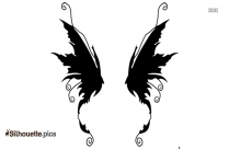 Raven Wings Silhouette Drawing