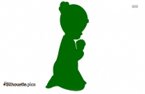 Precious Moments Angel Praying Silhouette Clipart