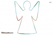Angel Shape Silhouette Art