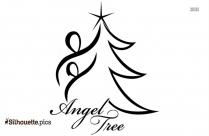 Cartoon Pine Trees Silhouette Image
