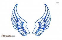 Angel Wing Stencil Printable Silhouette Vector And Graphics