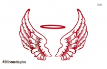 Angel Wings Silhouette And Vector