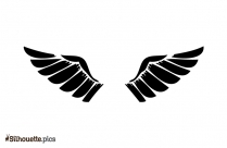 Angel Wings Clipart Vector Silhouette