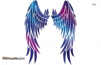Wings Pointing Down Silhouette Free Vector Art
