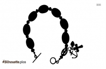 Anglican Episcopal Rosary Bracelet Silhouette