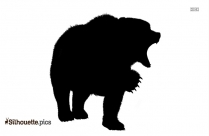 Bear Silhouette Black And White