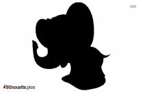 Cartoon Angry Elephant Silhouette