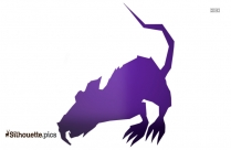 Angry Giant Rat Silhouette