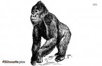 Monkey Dancing Silhouette Illustration