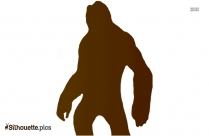 Real Hanging Monkey Silhouette Illustration