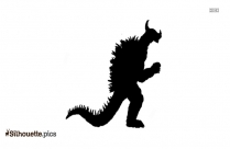 Anguirus Monster Silhouette