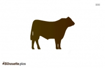 Cartoon Steer Silhouette