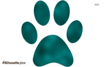 Wildcat Paw Silhouette Picture