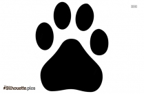 Puppy Paws Silhouette Drawing