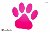 Bull Dog Paw Print Silhouette