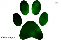 Cartoon Panther Paw Print Silhouette