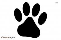 Puppy Paw Silhouette Art