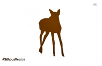 Deer Cartoon Silhouette Free Vector Art