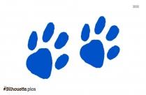Black Baby Footprint Silhouette Image