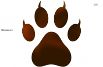 Animals Paw Silhouette Image And Vector