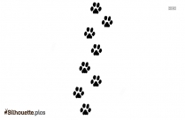 Dog Paw Silhouette Picture
