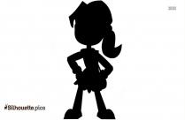 Cartoon Girl Silhouette Illustration